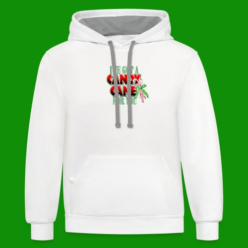 Candy Cane - Unisex Contrast Hoodie