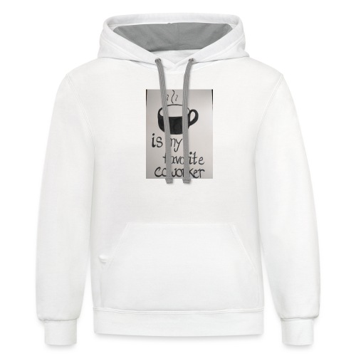 Coffee coworker - Contrast Hoodie