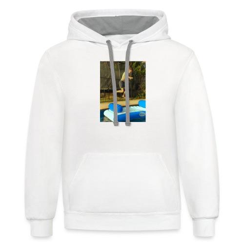 jump clothing - Contrast Hoodie