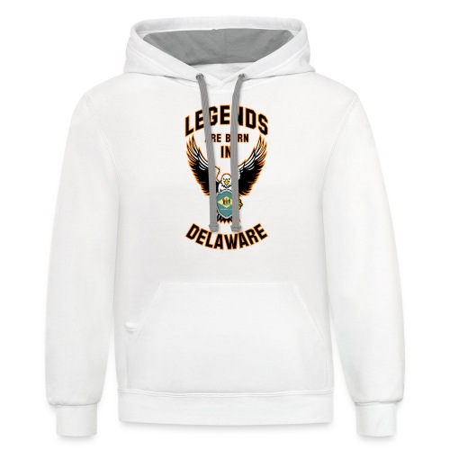 Legends are born in Delaware - Unisex Contrast Hoodie