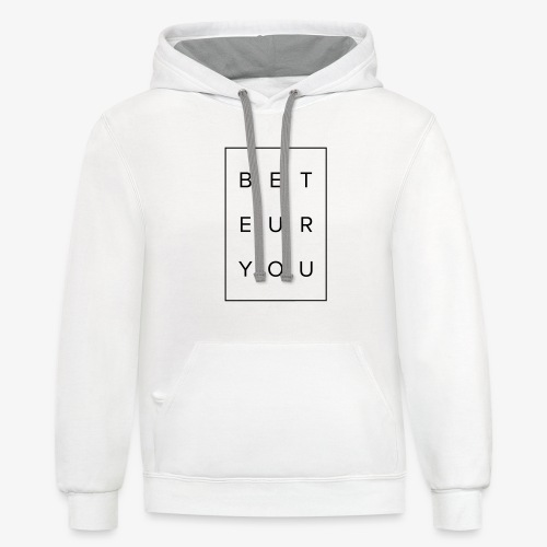Black Puzzle Design - Be You, Be True - Contrast Hoodie