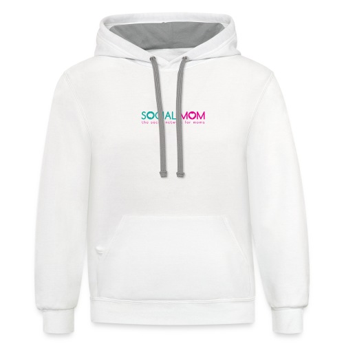Social.mom Logo English - Contrast Hoodie