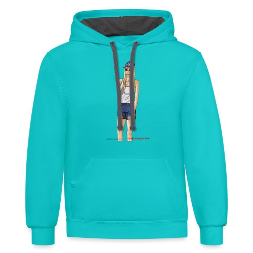 Gina Character Design - Contrast Hoodie
