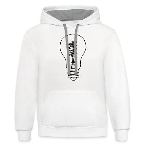 Vintage Light Bulb - Contrast Hoodie