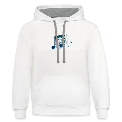 Music note spill - Contrast Hoodie