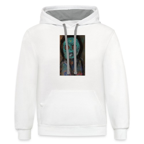 The galactic space monkey - Contrast Hoodie