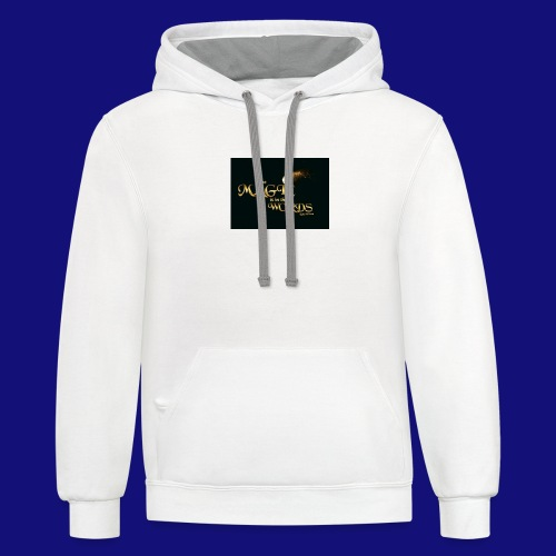 The magic is in the words gold - Unisex Contrast Hoodie