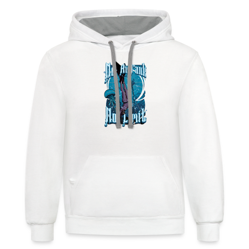 No Air Tank No Limit Freediving merchandise - Contrast Hoodie