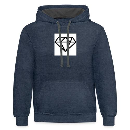 diamond outline 318 36534 - Contrast Hoodie