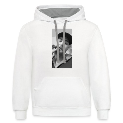 Turupxprime Hoots black n white merch line. - Contrast Hoodie