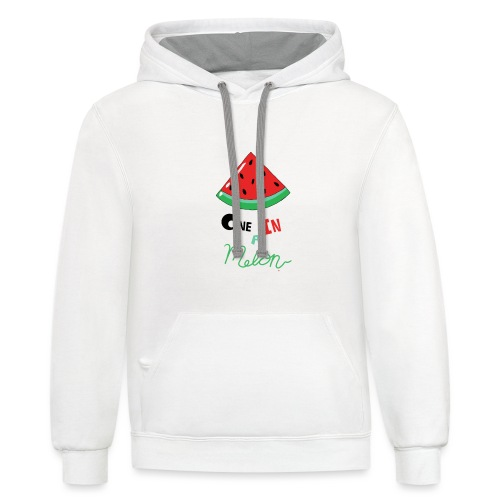 One In A Melon - Unisex Contrast Hoodie