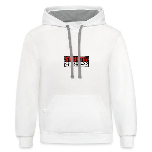 Strictly Business Productions Music Group Logo - Unisex Contrast Hoodie