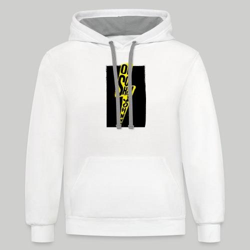 Ol' School Johnny Colour Lightning - Unisex Contrast Hoodie
