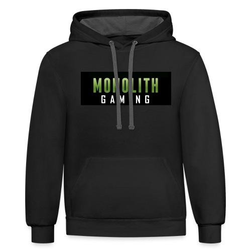 Monolith Gaming Logo - Contrast Hoodie