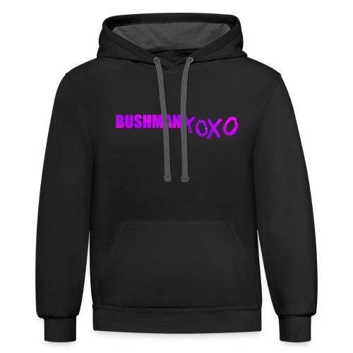 BUSHMAN XOXO - Contrast Hoodie