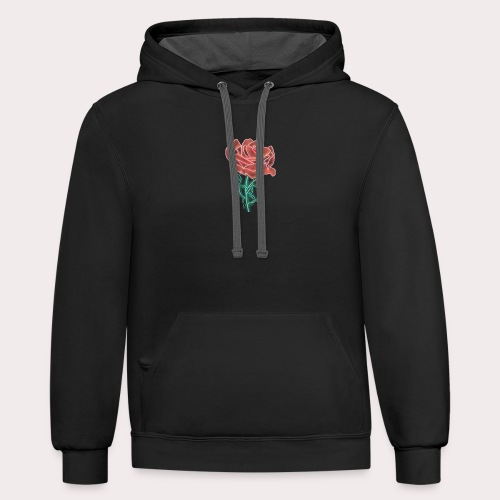 Retro Rose By ConqueringLife - Contrast Hoodie