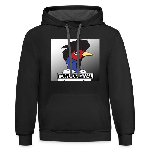 Fowl Original Logo - Contrast Hoodie