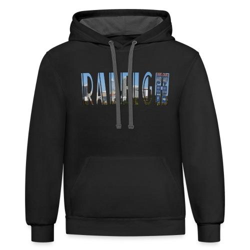 Raleigh Skyline Fall - Contrast Hoodie