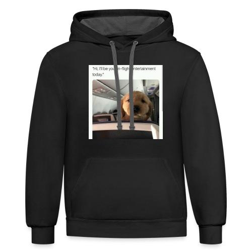 Dog memes - Contrast Hoodie