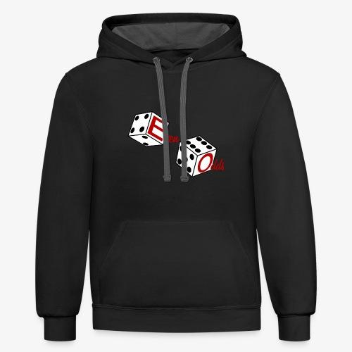Even Odds Dice Logo - Contrast Hoodie