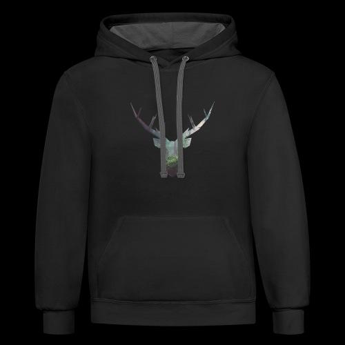 Double Deer - Contrast Hoodie