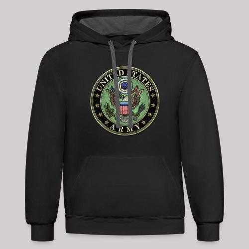 Worn US Army Seal - Contrast Hoodie