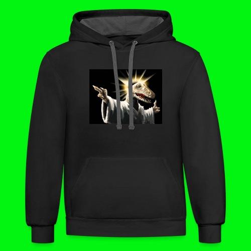 Raptor Jesus - Contrast Hoodie