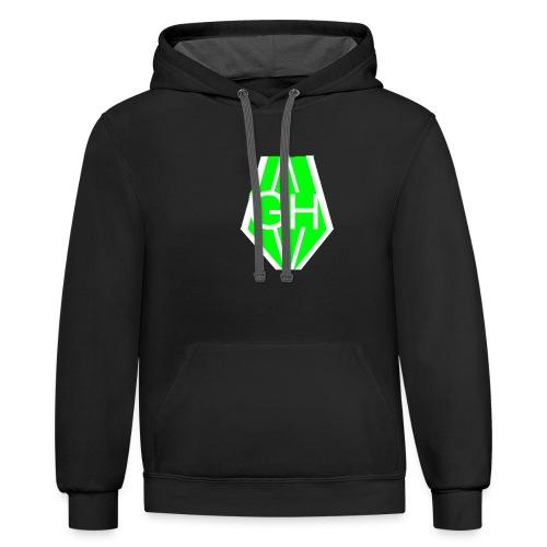 Greenhusky symbol - Contrast Hoodie