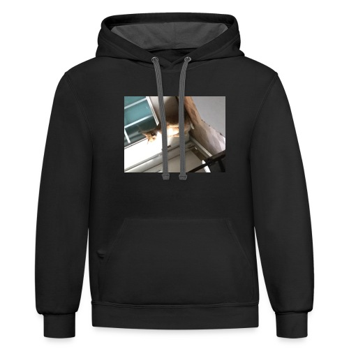 Stand cat T-shirt - Contrast Hoodie