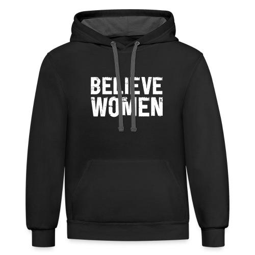 Believe Women T SHIRT - Contrast Hoodie