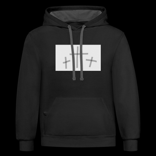 THREE CROSSES - Contrast Hoodie