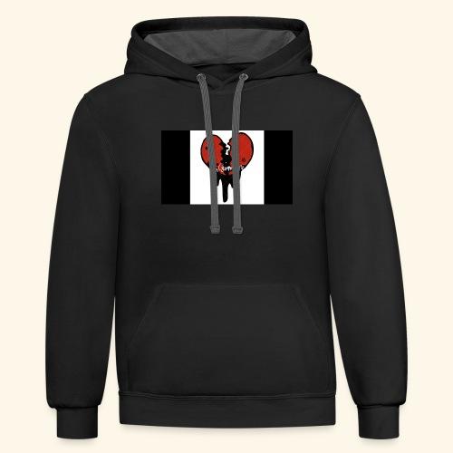 heart break - Contrast Hoodie