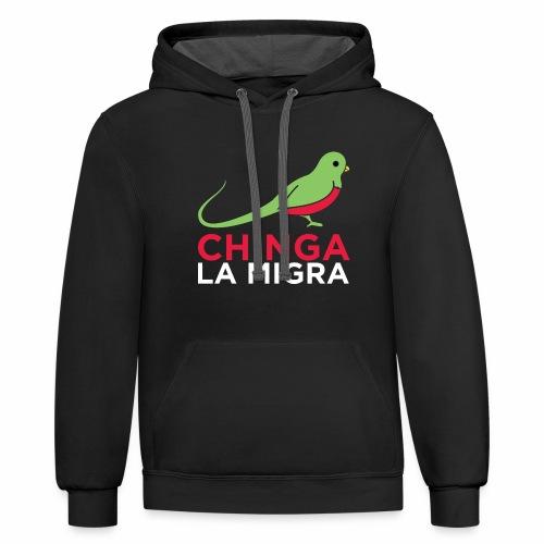 El quetzal dice que Chinga La Migra - Contrast Hoodie