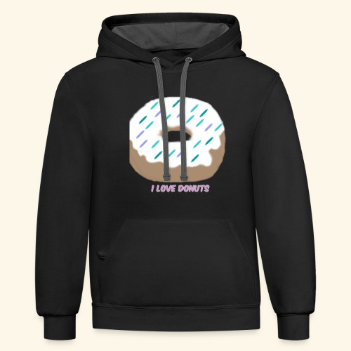 I Love Donuts - Contrast Hoodie
