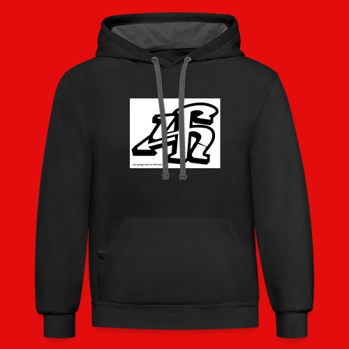 4h graffiti letters and numbers - Contrast Hoodie