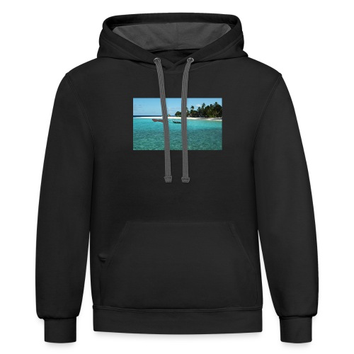 clear water of the beach - Contrast Hoodie