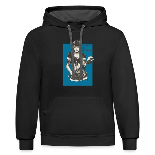 Looking for a Plumber Engineer T shirt - Contrast Hoodie