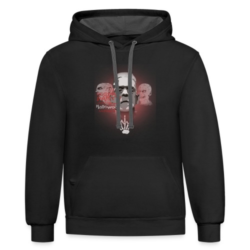gift HalloweenT-shirt for girls, young and kids - Contrast Hoodie