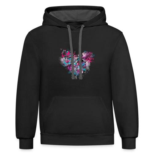 Love Printed T-shirt - Contrast Hoodie