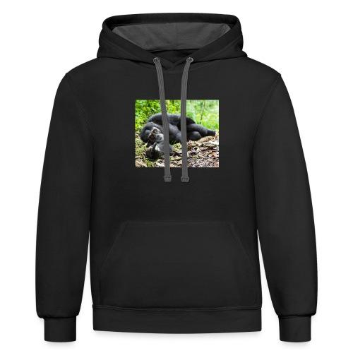 Gorilla Mood sweatshirt and and Tshirt ORIGINAL - Contrast Hoodie
