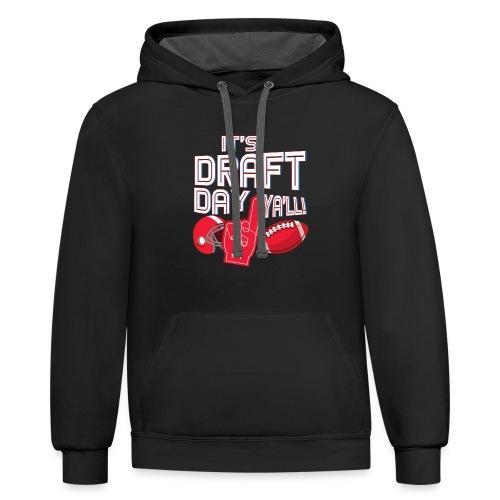 Fantasy Football Draft Day League Men Women Gift - Contrast Hoodie
