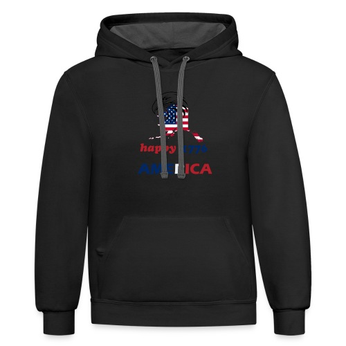 happy america 4th of july 1776 - Contrast Hoodie