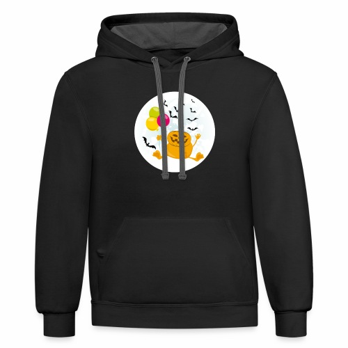 Scary & Funny Halloween Tee - For kids and adults - Contrast Hoodie