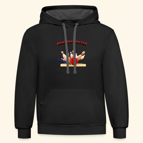 bowling master - Contrast Hoodie