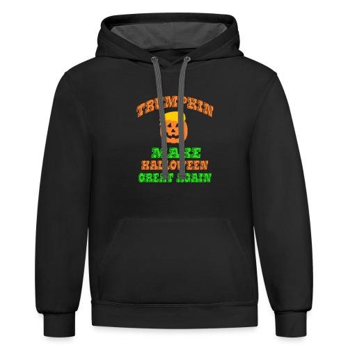 Trumpkin Halloween Shirt - Contrast Hoodie
