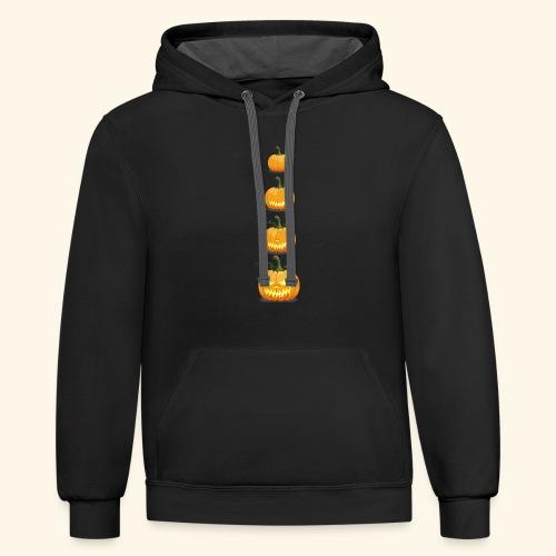 halloween pumpkin - Contrast Hoodie