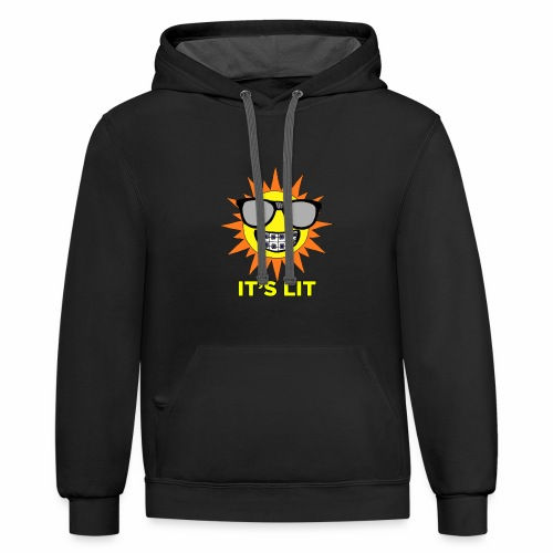 Nerdy LIt Sun - Contrast Hoodie