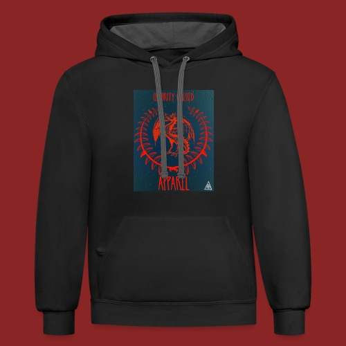 Flaming Red Dragon - Contrast Hoodie