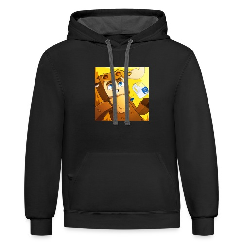 Moose craft fan merch - Contrast Hoodie
