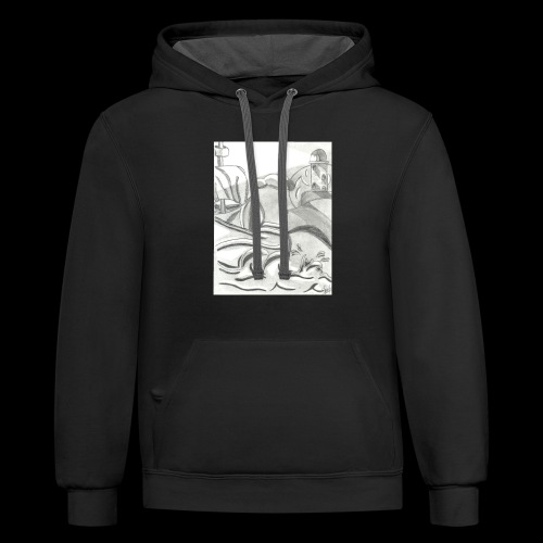 abstracto - Contrast Hoodie
